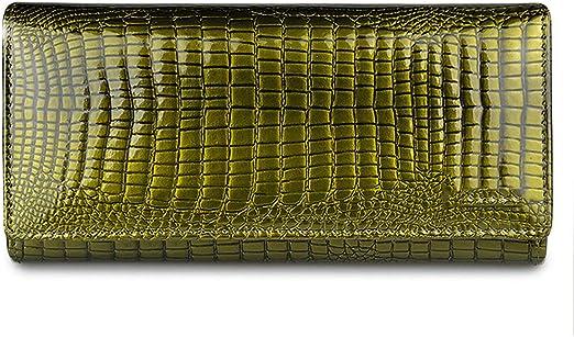 Men Money Genuine Cow Leather Wallet Coin Pocket Purse Crocodile Design Luxury