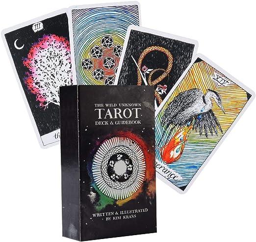 Planuik The Wild Tarot Desconocido 78 cartas Tarot Inglés completo juego de mesa para fiesta familiar: Amazon.es: Hogar