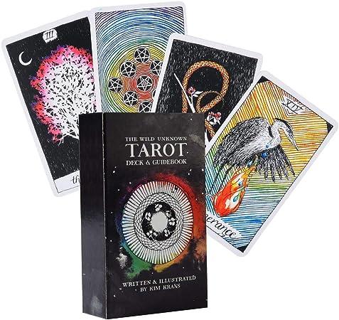 qiuxiaoaa The Wild Tarot Desconocido 78 Baraja de Cartas Tarot inglés Completo Juego de Mesa de Fiesta Familiar Juegos de Mesa: Amazon.es: Hogar