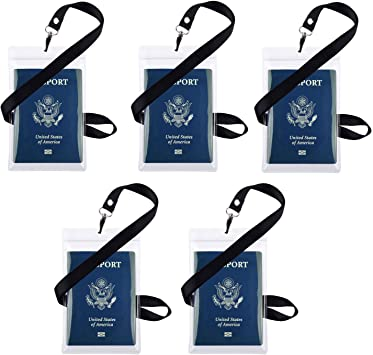 Passport and travelers check holder,credit card holder neck safe Made in U.S.A.
