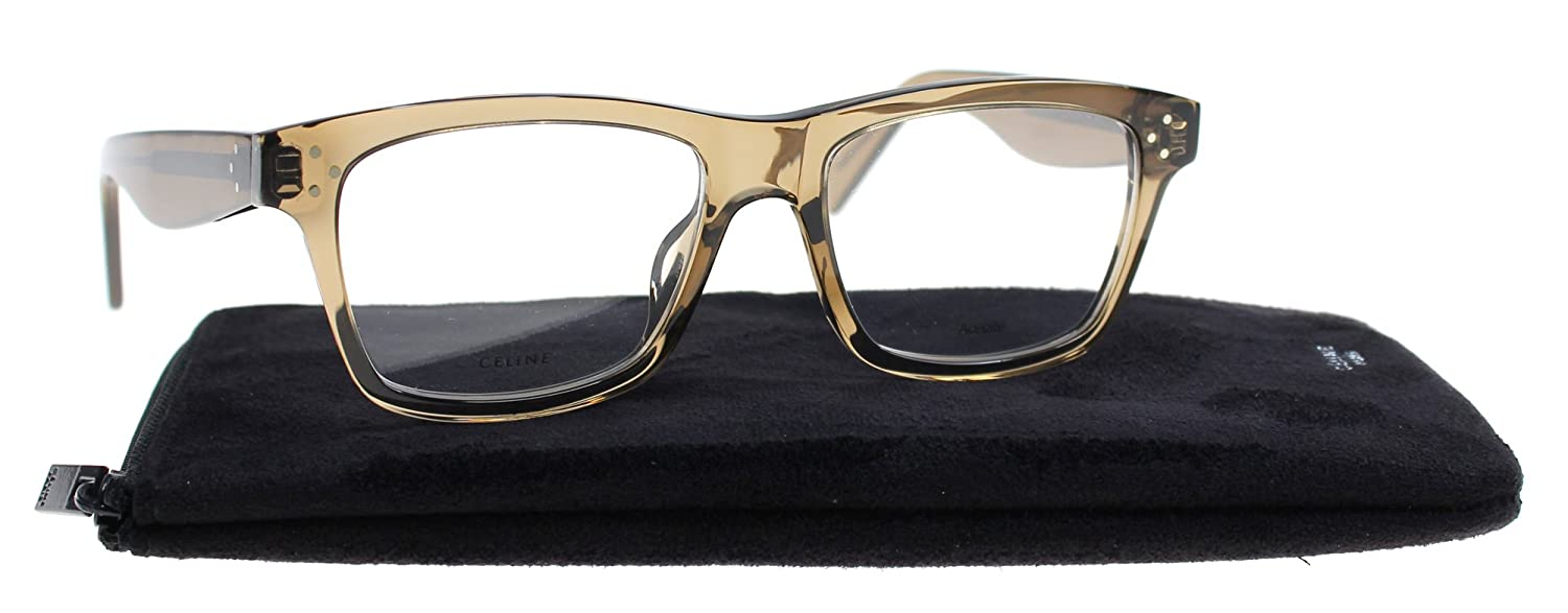eb41e09af2f5 Celine Plastic Square Eyeglasses 52 0FU4 Coffee at Amazon Men s Clothing  store