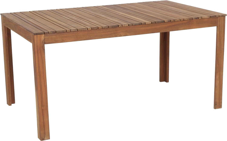 greemotion 41 Gartentisch SYLT aus Holz-Esstisch Garten, Terrasse &  Balkon-Holztisch rechteckig aus Akazie massiv-Tisch wetterfest für draußen,