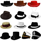 CHILDRENS COWBOY COWGIRL HAT WILD WEST WESTERN TOY COW BOY PERFECT FOR ANY FANCY DRESS PARTY FOR BOYS AND GIRLS - BROWN