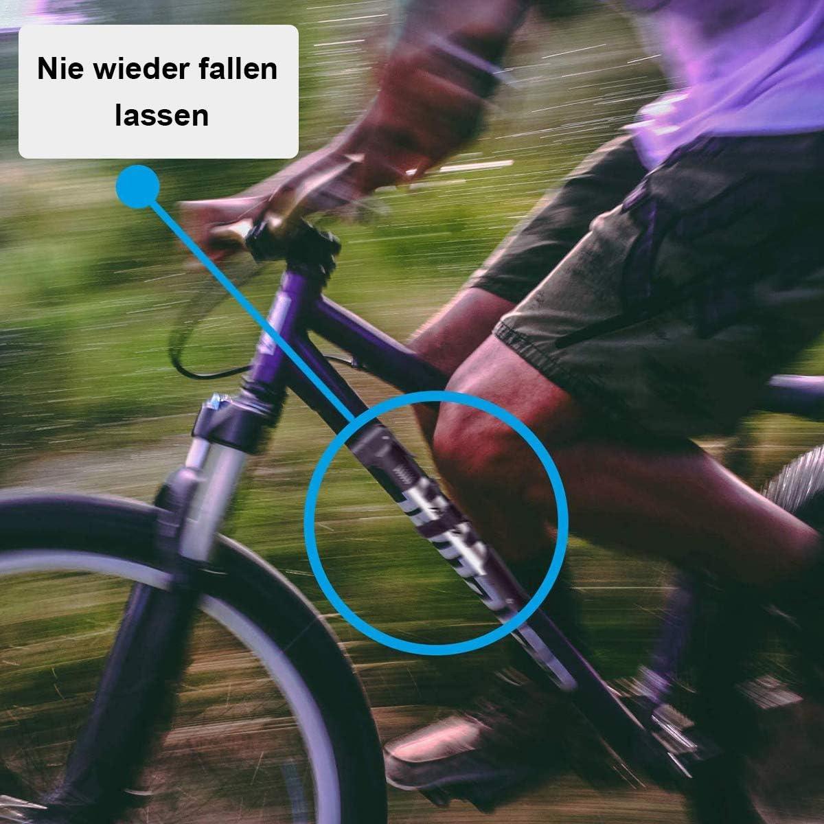 MICHETT Mini Fahrradpumpe Alloy Minipumpe Kleine Tragbare Handpumpe Leichte Bicycle Pump Compakt Bike Pump Schnell und Einfach zu Bedienen Alle Ventile f/ür Mountainbikes Rennrad E-Bike MTB