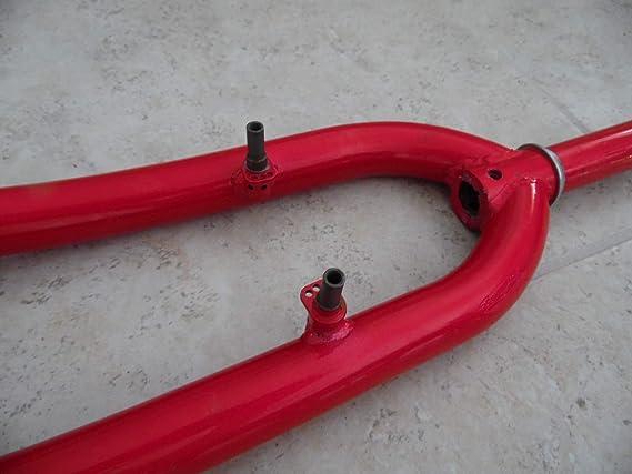 """brake fork. 26/"""" Bike front fork 1-1//8 /"""" threaded cro-mol  heavy duty V"""
