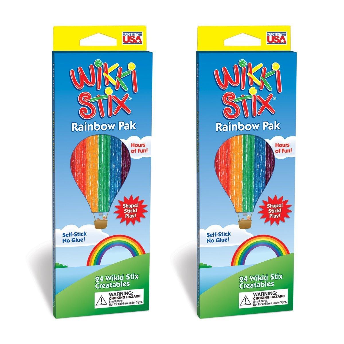 Wikki Stix Rainbow Pak- 2 Pack (1 Pack) by Arts & Crafts