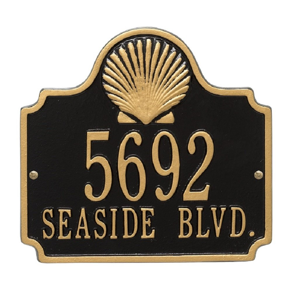Conch Shell Address Plaque 11'' x 10'' ( 2 Lines)