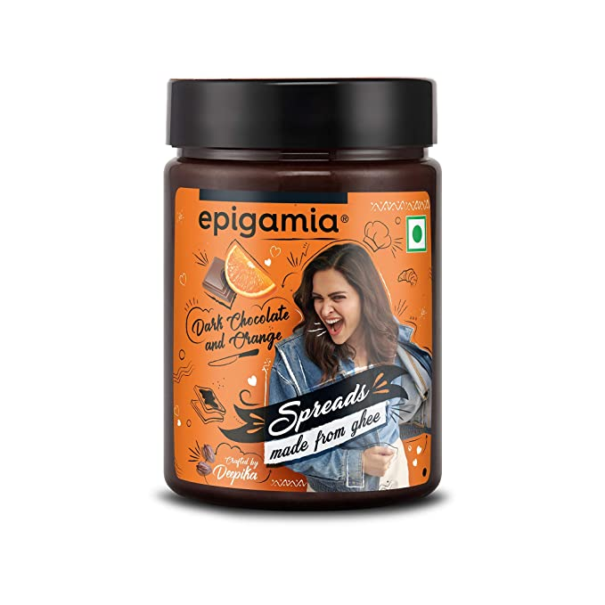 Epigamia Dark Chocolate Orange Spreads, 250 g