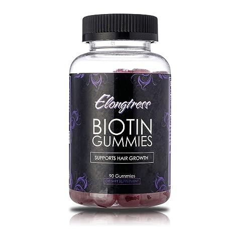 Gomitas biotina 5000 mcg por porción - 90 gomitas por botella - La biotina ayuda al