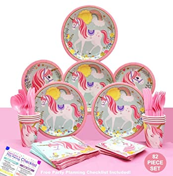 Unicorn Party Supplies for a Magical Unicorn Birthday Party - 1st