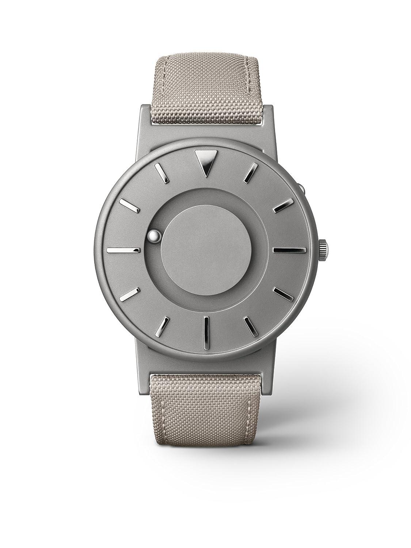 eone BRADLEY CLASSIC Unisex Uhr - Leder- Stoff Armband beige