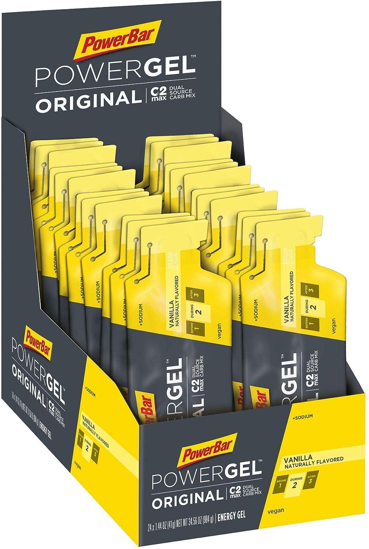 PowerBar PowerGel Original   41g Pouch x 24 Gels   Endurance Energy C2MAX for Exercise, Vanilla