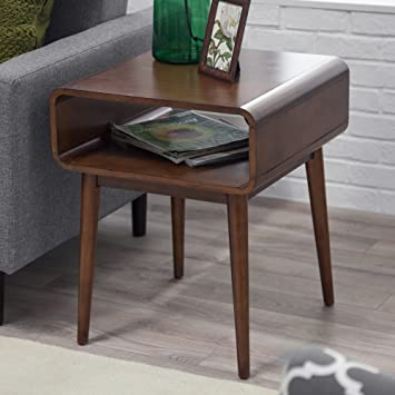 Lovely Amazon.com: Belham Living Carter Mid Century Modern Side Table: Kitchen U0026  Dining
