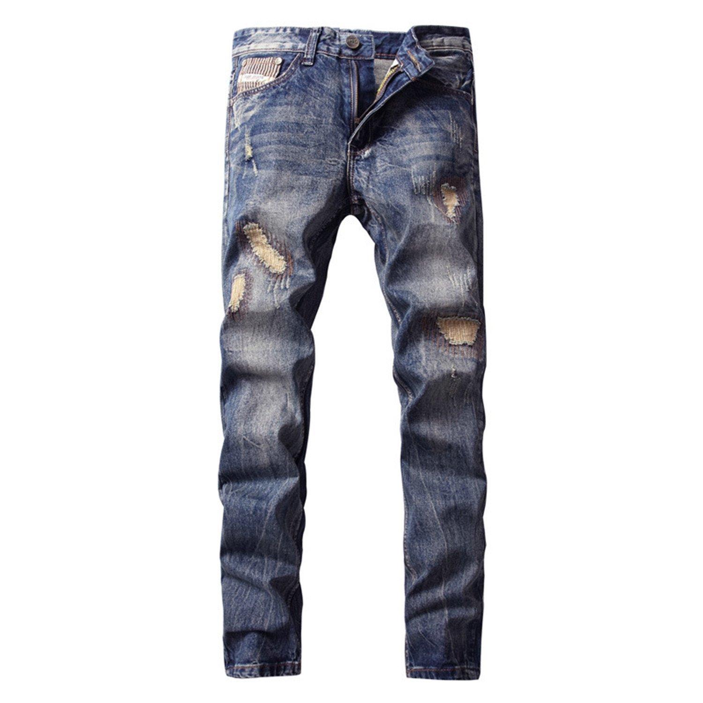 Phillip Dudley New Hot-Sale New Designer Storm Jeans Men Slim Fit Denim Ripped Pants Mid Stripe Mens Biker Jeans