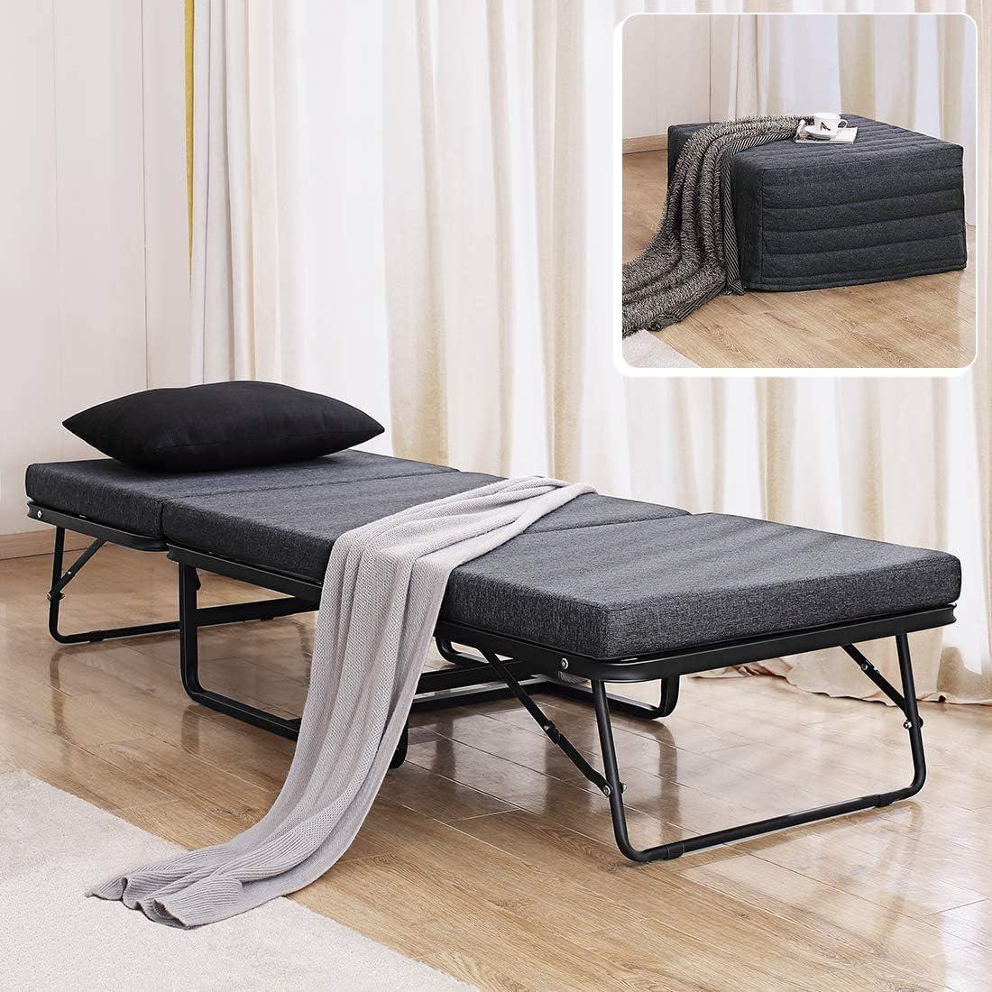 - Amazon.com: TATAGO Premium Ottoman Folding Bed With Steel Mesh