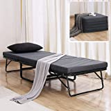 TATAGO Premium Ottoman Folding Bed with Steel Mesh Wire Lattice Base 500lbs Max Weight Capacity, Extra-Thick Cotton…