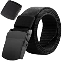 AIZESI Men Nylon Military Tactical Belt,Plastic Buckle,49inch