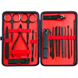MICPANG Manicure Set Nail Clipper Set 18 in 1 Pedicure Kit Professional Nail Scissors Grooming Kit with Leather Travel Case (
