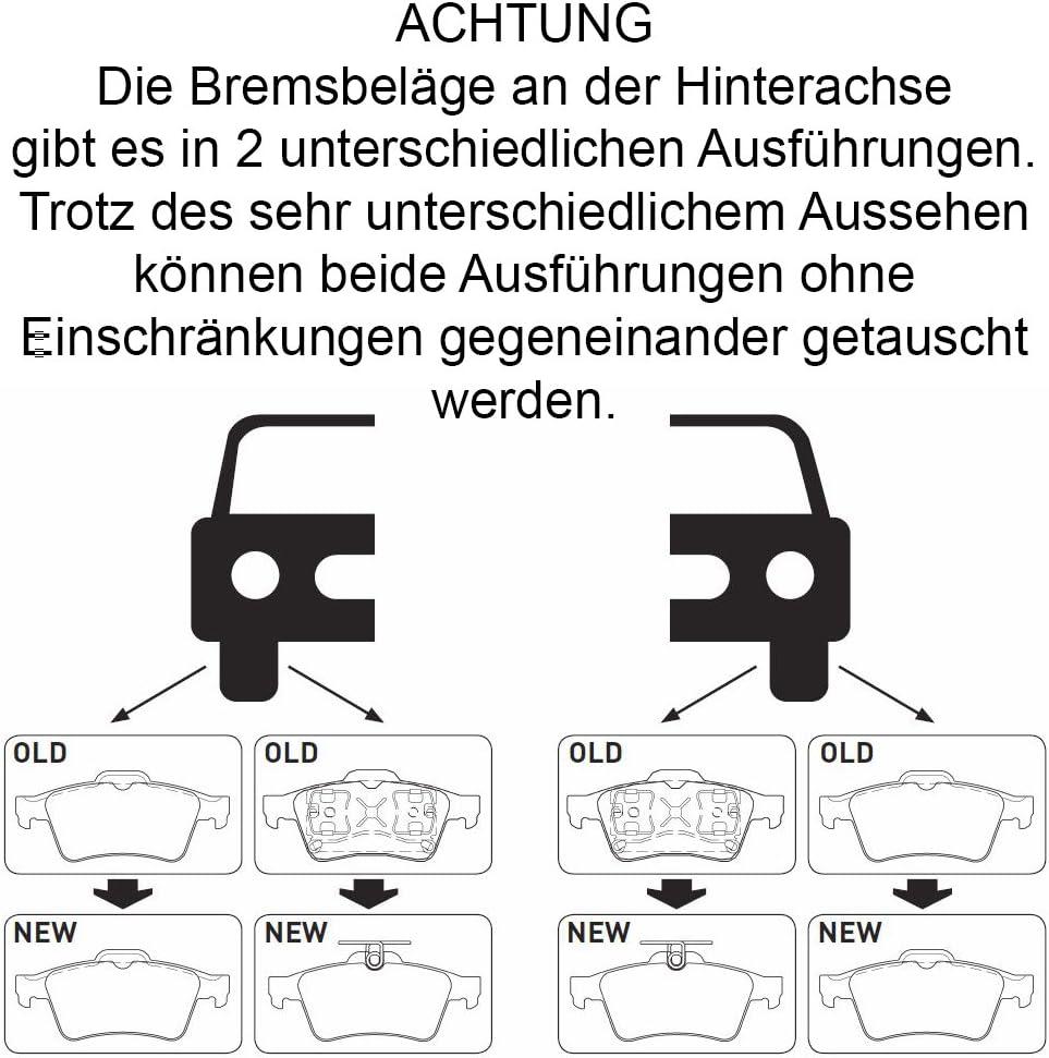 2 BREMSSCHEIBEN 280mm BREMSBREMSBEL/ÄGE HINTEN