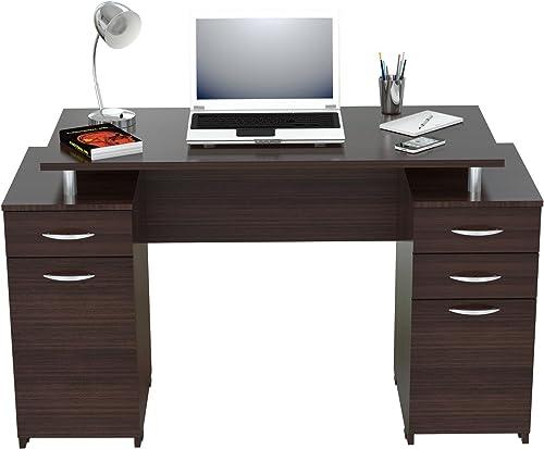 Inval America Computer Desk, Espresso