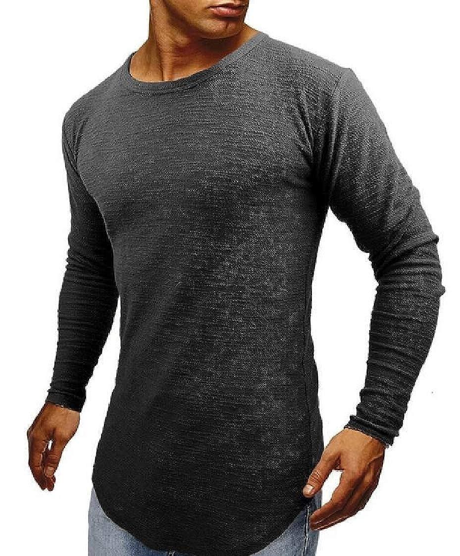 New Mens Foray Curved Hem Slim Fit Stylish Designer Short Sleeve T Shirt Tee Top