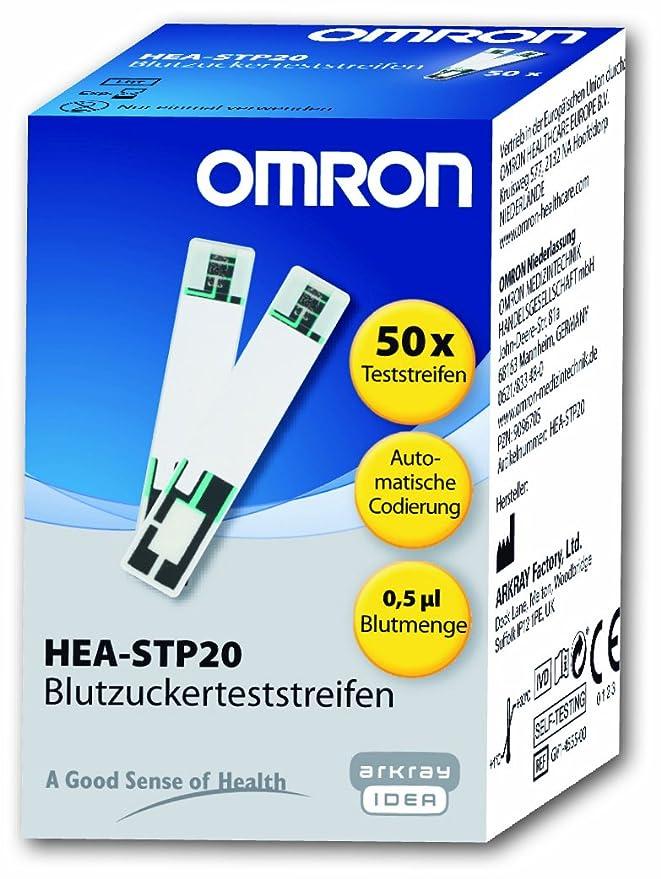 Omron HEA-STP20-D - Tiras de control de glucosa en sangre ...