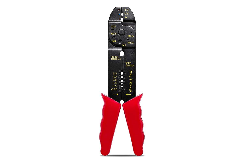 KnnX 28115 - Pince pour dé nuder, Couper et sertir Les câ bles avec Trous de Cisaillement inté gré s Couper et sertir Les câbles avec Trous de Cisaillement intégrés