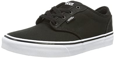 vans black and white kids