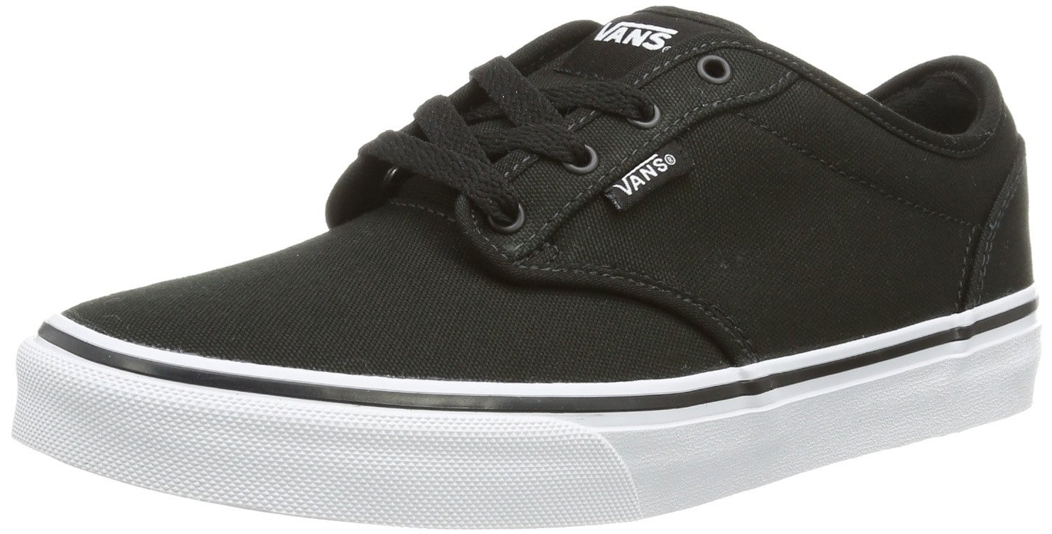 Vans Atwood, Unisex Kids' Low-Top Sneakers, Black ((Canvas) Black/White), 3.5 UK (36 EU)
