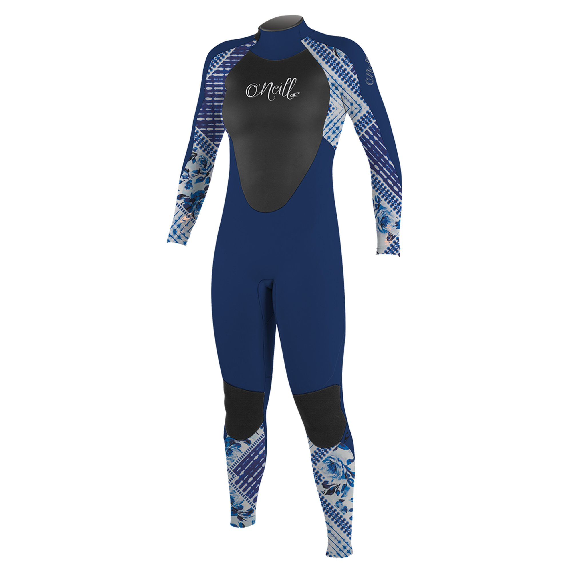 O'Neill Youth Epic 3/2mm Back Zip Full Wetsuit, Navy/IndPatch/Navy, 4