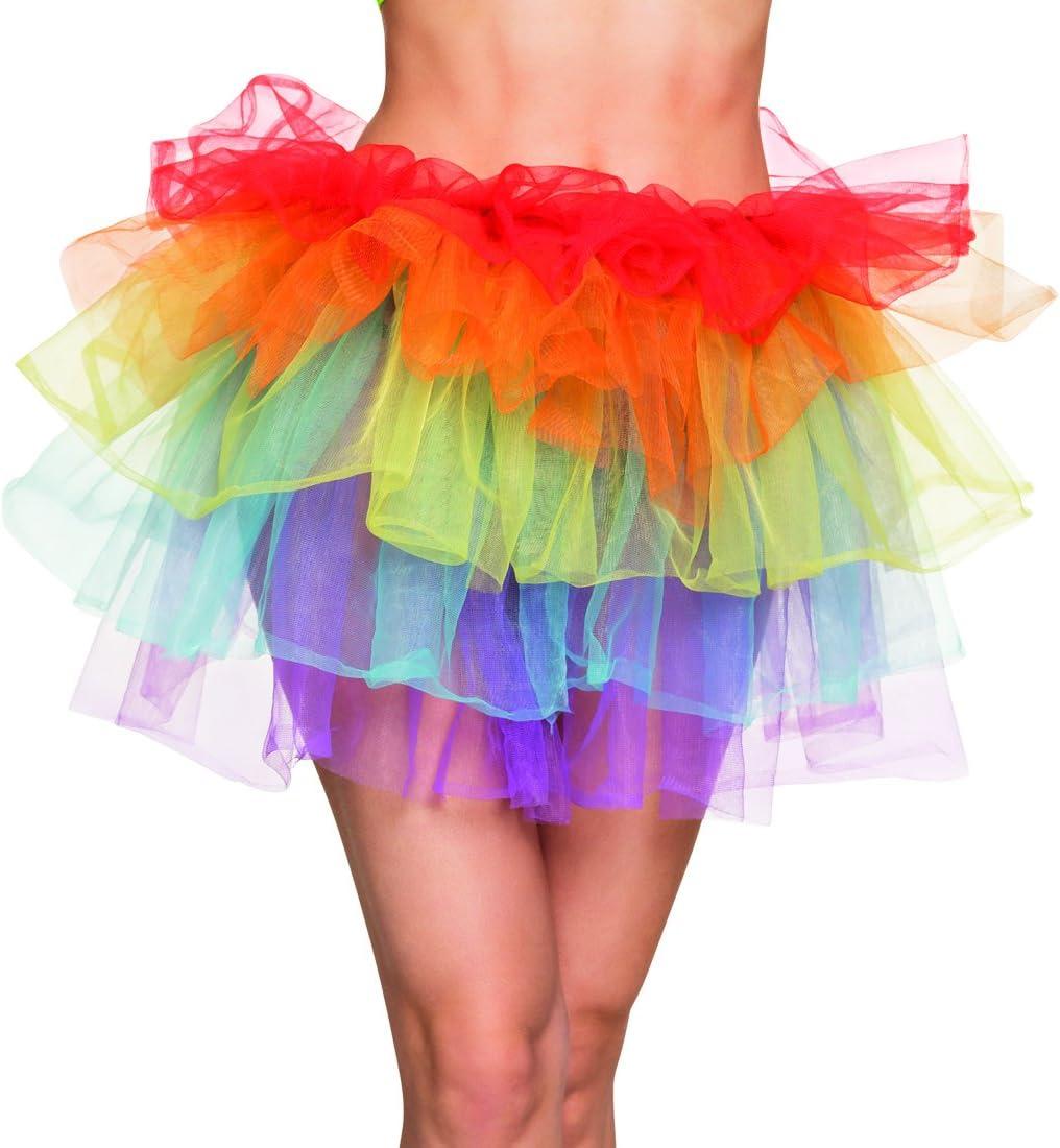 NET TOYS Mini Falda Colorido   Tutú Arcoíris   Petticoat Años 80 ...