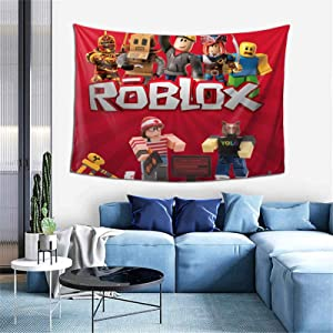 PO1 UP Ro-Blox Tapestries Wall Blanket Art Wall Hanging for Living Room Bedroom Home 60 X 40 Inch