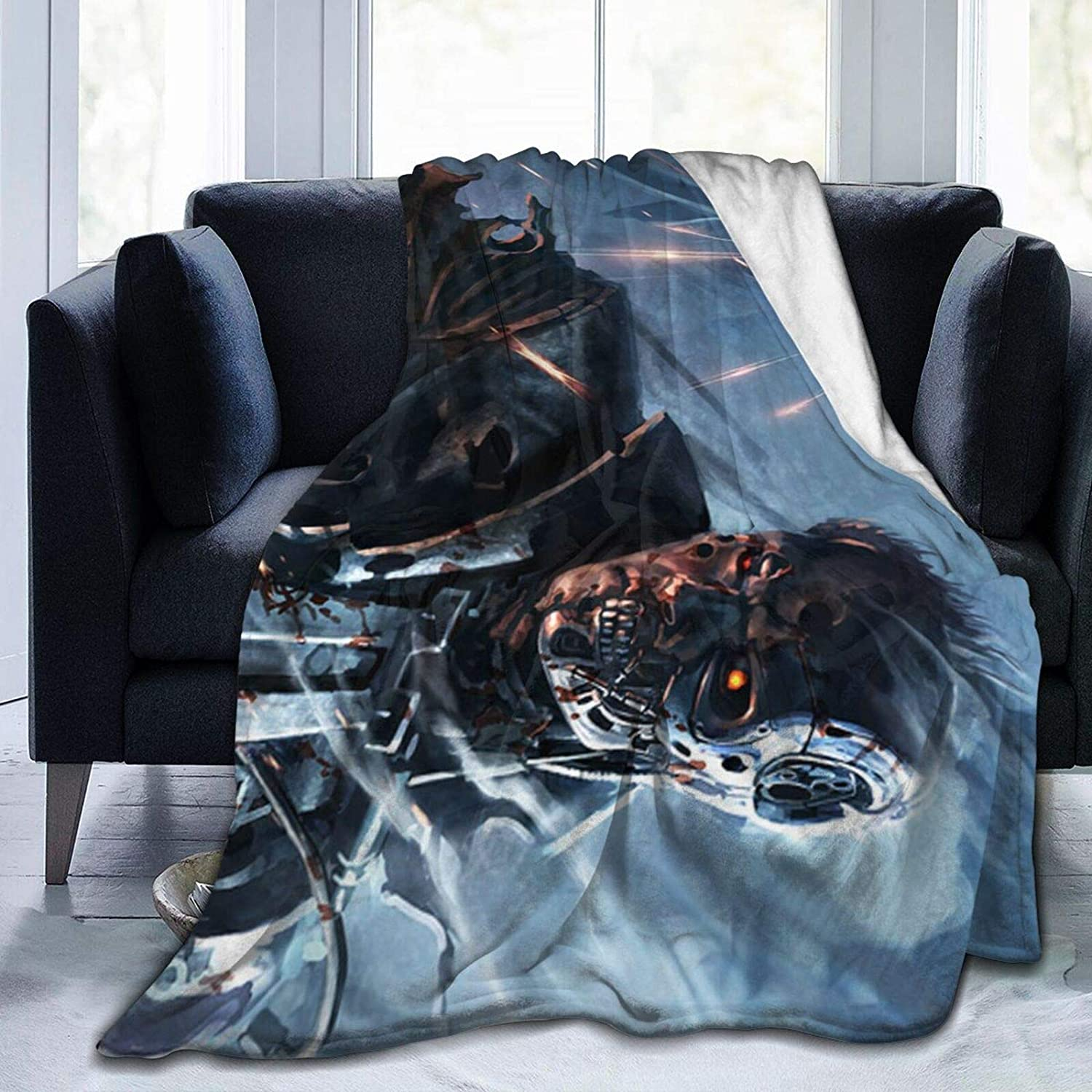 The Terminator Ultra Soft Micro Fleece Blanket Throw Blanket Lightweight Soft and Warm for Men Women Kids Couch and Bed Home decor80 x60