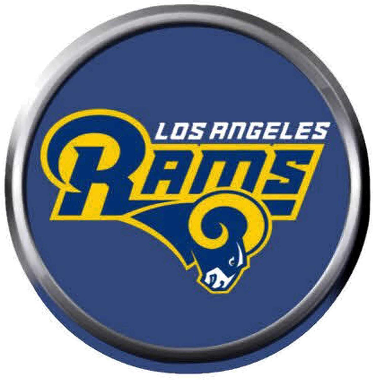 Snap Jewelry 18mm Rams Logo Snap