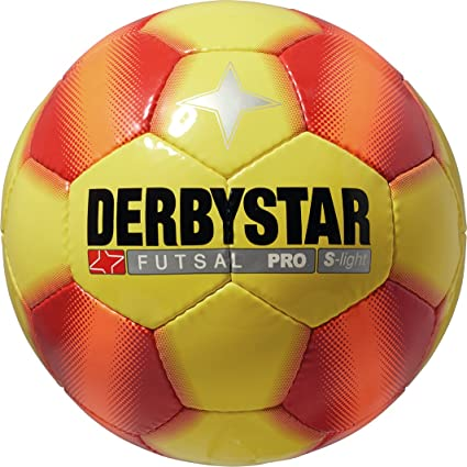 Derbystar Futsal Pro S-Light, Amarillo/Rojo, 4, 1087400537: Amazon ...