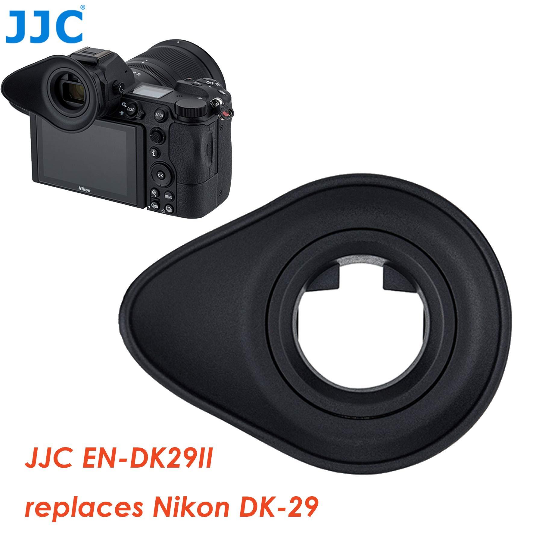 Jjc EN-DK29II Ergonomic Large Eyecup for Nikon Z6 Z7, 360° Rotatable, Soft TPU Rubber, Nikon Z6 Z7 Eyecup Eye Piece, Replacement of Nikon Dk-29 Eyecup