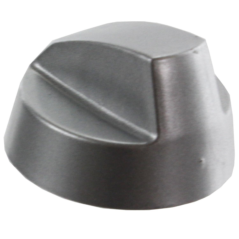 Pack de 4, Cromado//Plata Spares2go Encimera Mando De Control Interruptor para Electrolux Horno Cocina