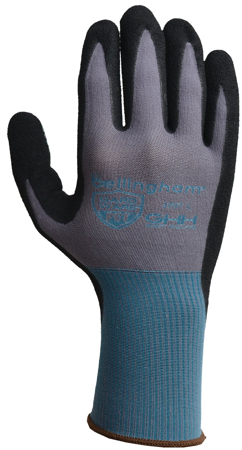 GardWare C3707S High-Dexterity Work Glove Pct Oil/Slip-Resistant Nitrile Coating and Breathable Dot Palm, Small