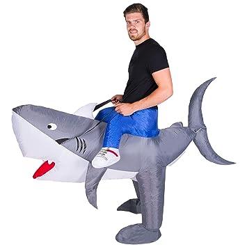Bodysocks® Disfraz Hinchable de Tiburón Adulto: Amazon.es ...