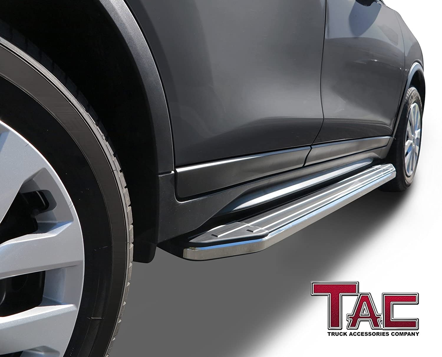 TAC Running Boards Fit 2009-2015 Honda Pilot SUV Aluminum Black Side Steps Nerf Bars Step Rails Truck Pickup Rock Panel Off Road Exterior Accessories 2 Pieces Running Boards