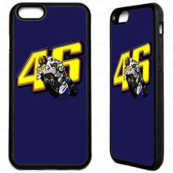 newest a27d7 3ef91 iPhone 7 Plus Valentino Rossi Rubber Phone Case 46 the: Amazon.co.uk ...