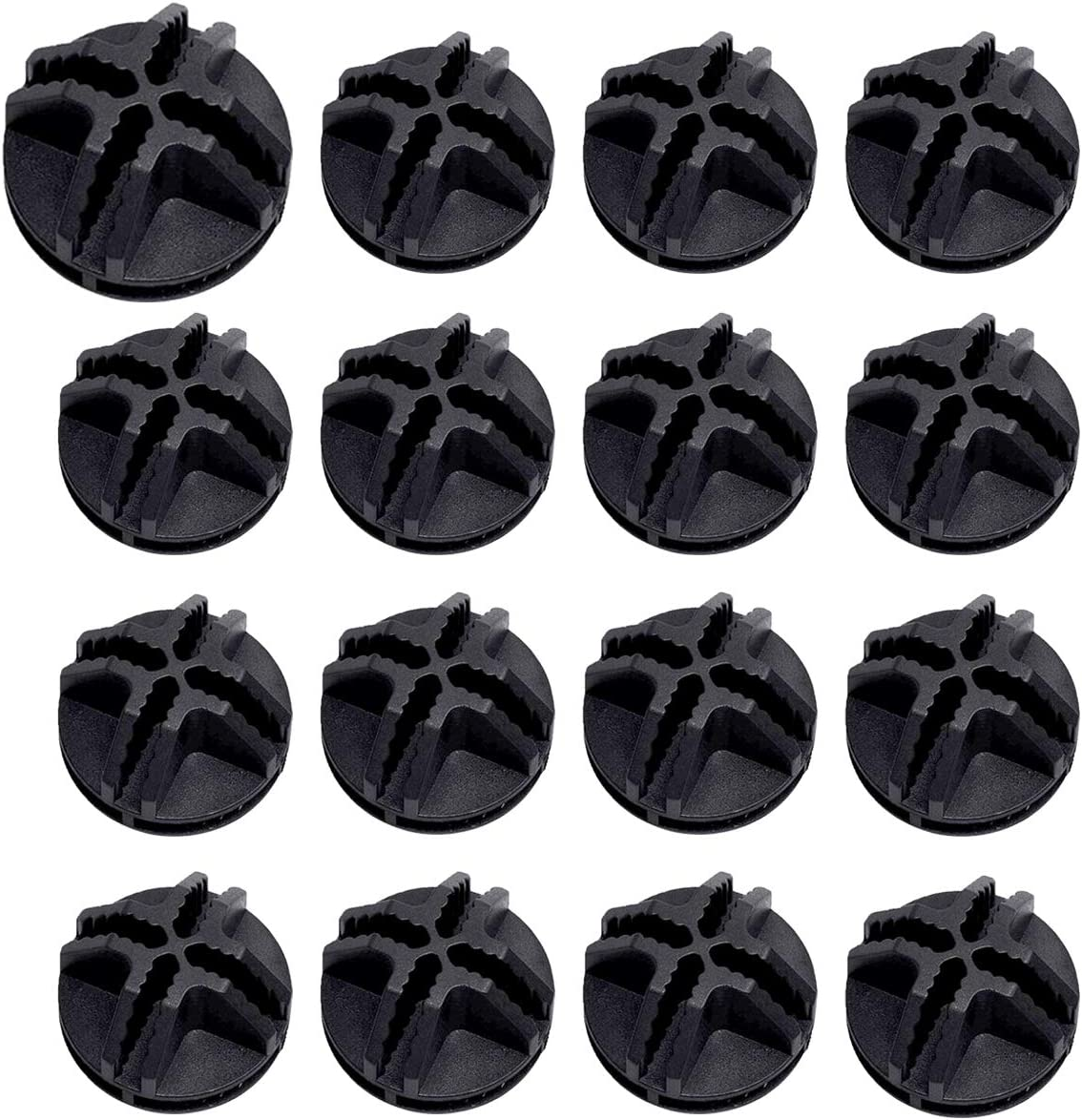 HAPY SHOP 40 Pcs Black Wire Grid Cube Plastic Connectors for Modular Closet Storage Organizer and Wire Grid Cube Storage Shelving