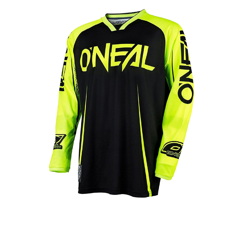 0030/A de 20 ONeal Mayhem Lite Jersey Blocker Noir Jaune Fluo MX Maillot VTT DH Motocross Offroad
