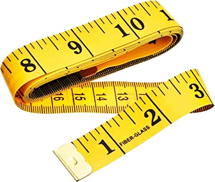 Sewing Tailor Cloth Ruler Waist Circumference Double-Sided Measuring Soft Tape Measure for Measure Chest 60inch//150cm 3 Pcs Soft Tape Measure Sewing