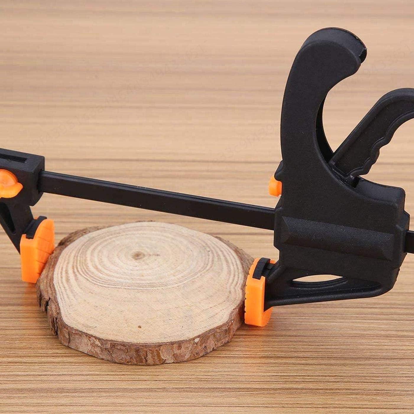 TINGB Travail du Bois 4pcs F Pinces Bricolage Outils /à Main Kit 10cm Rapide /à cliquet de Presse en Plastique Barre F Clip Set Grip