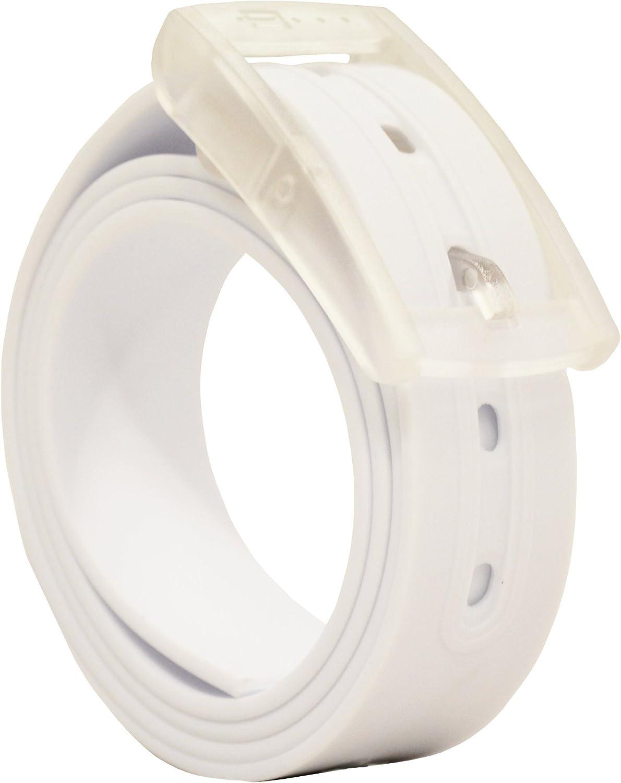 PlugBelt Blanco - Cinturon de Golf para Hombre, Silicona, unitalla ...