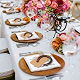 aerwo 10pcs suerte herradura boda Favor DIY tarjetas de números de mesa con etiqueta para rústico boda decoración regalo de bodas