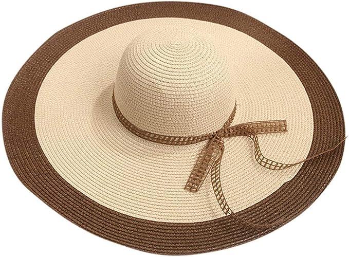 Darringls Sombrero de Paja, Sombreros Hombres Mujeres Sombrero de ...