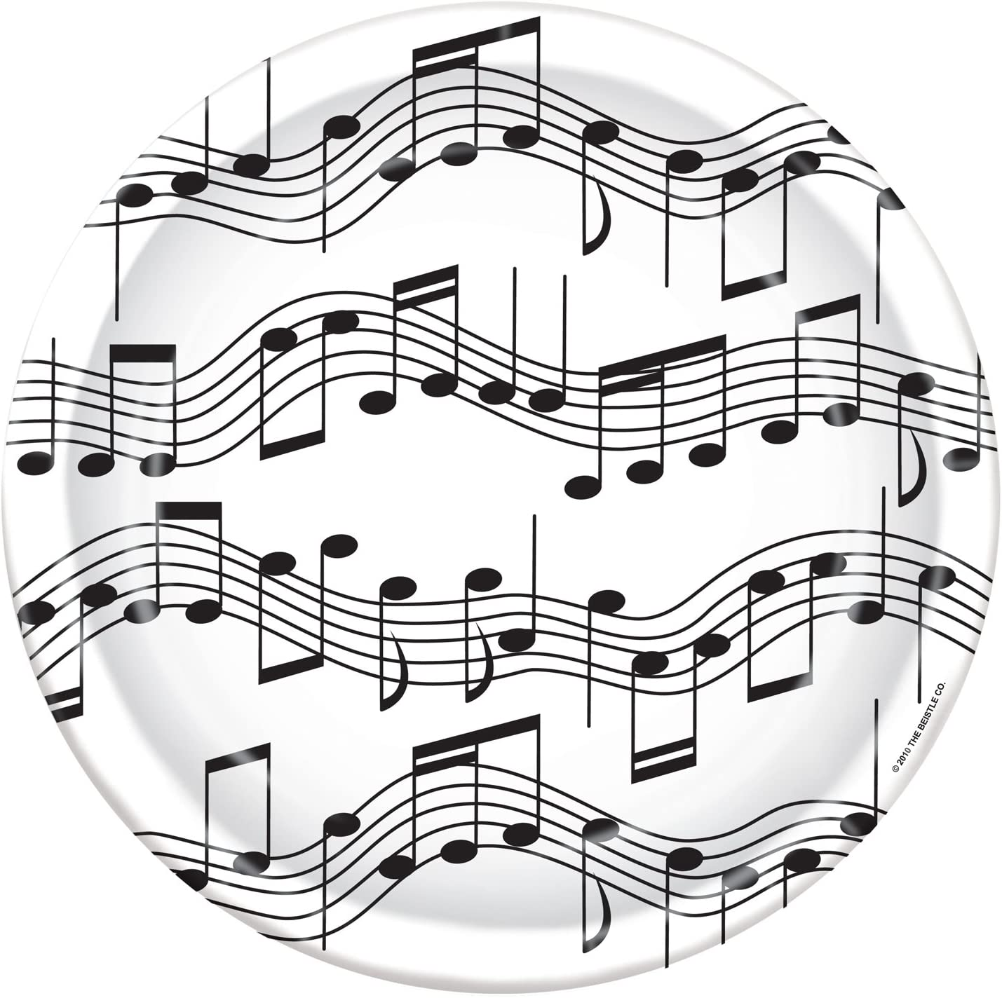 Musical Note Plates (8/Pkg)