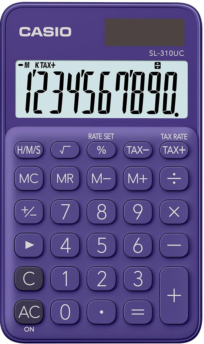 Casio SL-310UC-PL Calcolatrice Tascabile, Viola